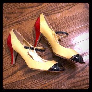 J. Crew 7 patent peep Mary Jane heels pumps shoes